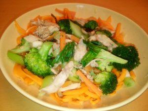 Butternut squash noodle stir-fry
