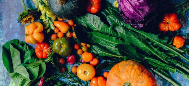 rainbow coloured vegetables
