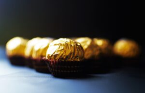 chocolates in wrappers